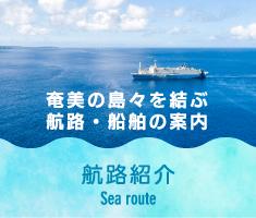 奄美の島々を結ぶ 航路紹介 Sea route
